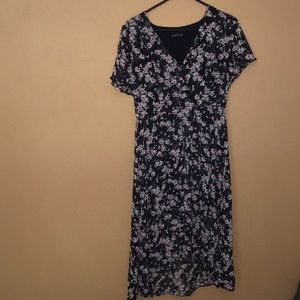 Cotton on floral high low dress